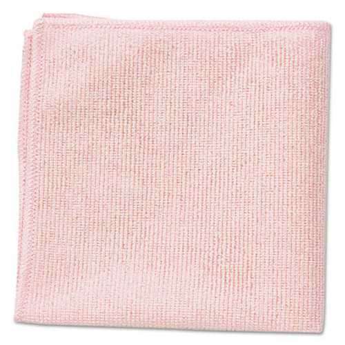 Rubbermaid Microfiber Cleaning Cloths, 16 x 16, Pink, 24/Pack (RCP 1820581)