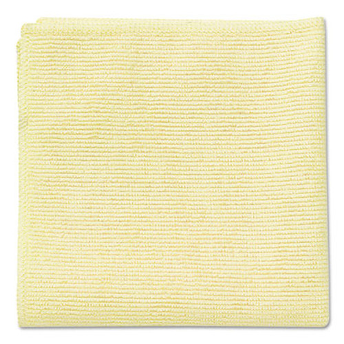 Rubbermaid Microfiber Cleaning Cloths, 16 x 16, Yellow, 24/Pack (RCP 1820584)