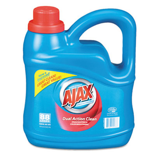 Ajax Dual Action Clean Liquid Laundry Detergent, Fresh Scent, 134 oz Bottle, (PBC 49276)
