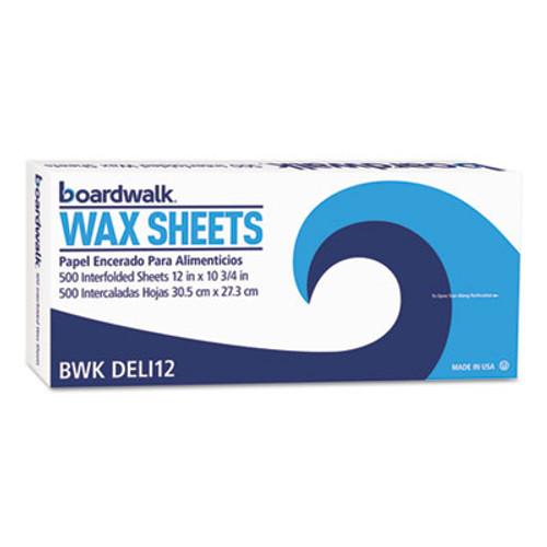 "Boardwalk Interfold-Sheet Deli Paper, 12"" x 10 3/4"", White, 500 Sheets/Box, 12 Box/Carton (BWK DELI12)"
