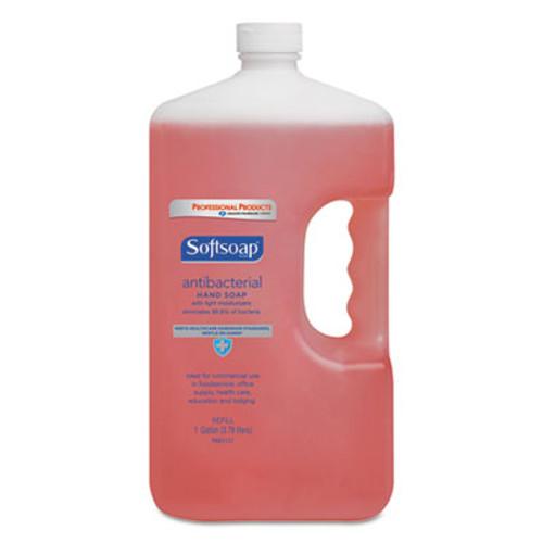 Softsoap Antibacterial Liquid Hand Soap Refill, Crisp Clean, Pink, 1gal Bottle (CPC 01903)