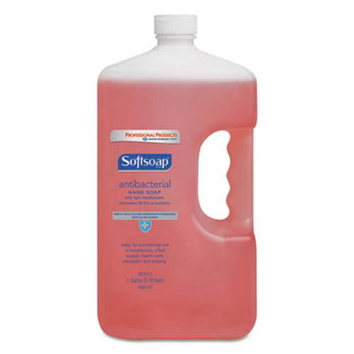 Softsoap Antibacterial Liquid Hand Soap Refill, Crisp Clean, Pink, 1gal Bottle (CPC 01903)