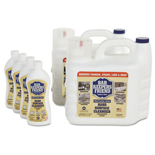Bar Keepers Friend Hard-Surface Soft Cleanser, 1.66 gal Bottle, 2/Carton (BKF11629)