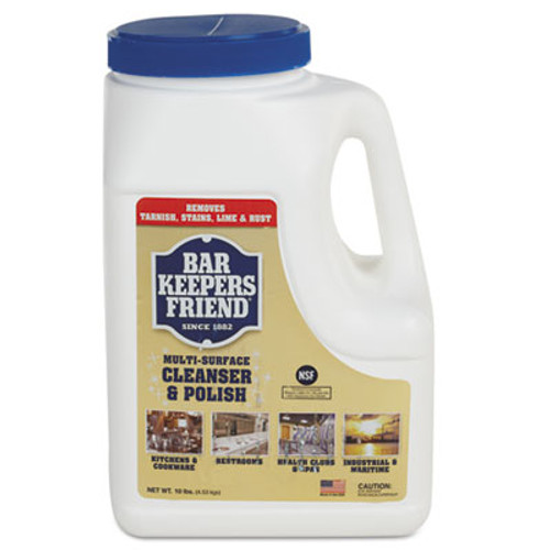 Bar Keepers Friend Powdered Cleanser and Polish, 10 lb Box, 4/Carton (BKF11512)