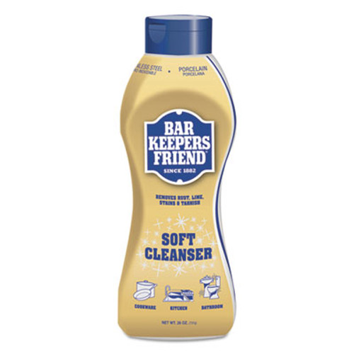 Bar Keepers Friend Soft Cleanser, 26 oz Squeeze Bottle, Citrus, 6/Carton (BKF11624)