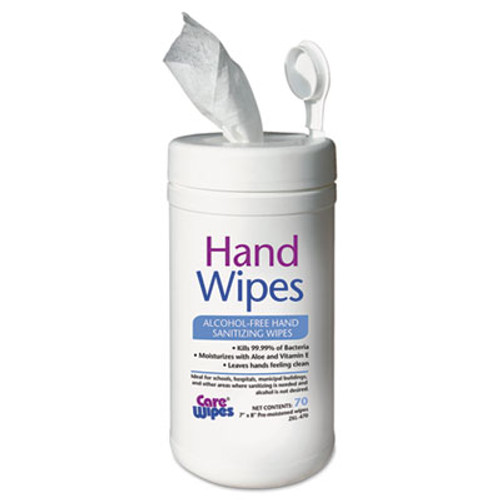 2XL Alcohol Free Hand Sanitizing Wipes, 7 x 8, White (TXL 470)
