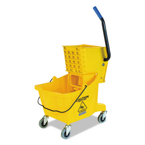 Flo-Pac Side-Press Bucket/Wringer Combo, Yellow, 26qt, 18 1/2dia x 16 1/2w x 16 1/2h (CFS3690804)