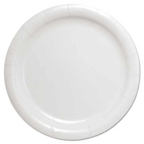 "Dart Bare Eco-Forward Clay-Coated Paper Dinnerware, Plate, 9"" Diameter, White (SCC HP9S)"
