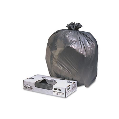 Jaguar Plastics Low-Density Commercial Can Liners, 56gal, 1.7mil, Black, 100/Carton (JAG G4347HBL)