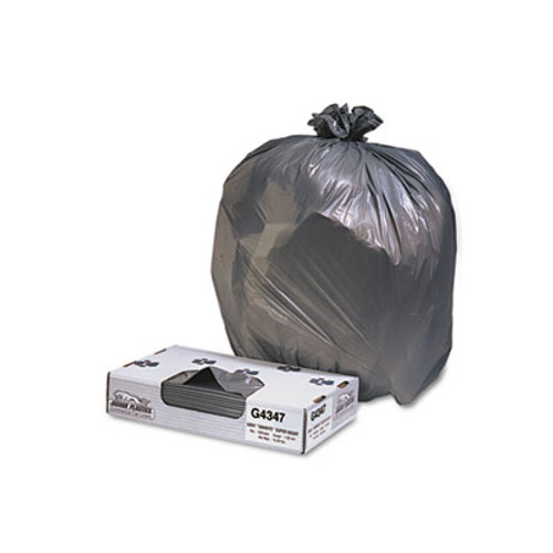 Jaguar Plastics Low-Density Commercial Can Liners, 56gal, 1.7mil, Black, 100/Carton (JAG G4347HBL)