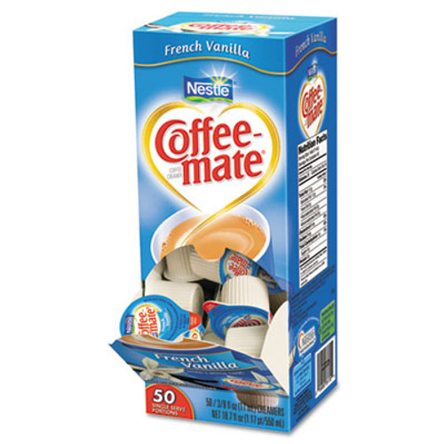 Coffee-mate French Vanilla Creamer, 0.375oz, 50/Box (NES35170BX)