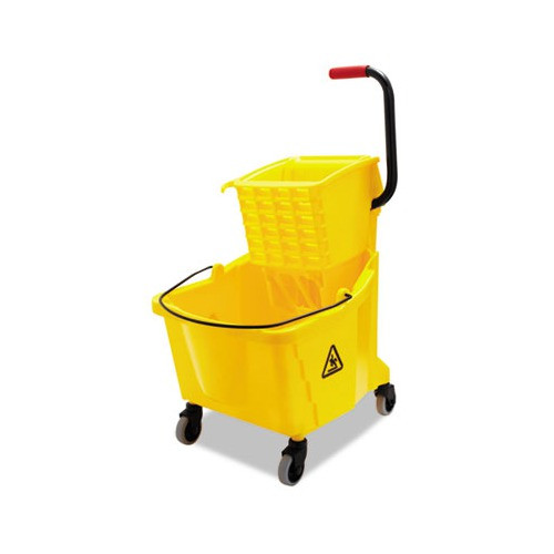 Boardwalk Pro-Pac Side-Squeeze Wringer/Bucket Combo, 8.75gal, Yellow (UNS 3416UC GRA)
