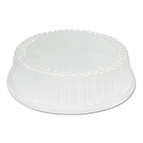 "Dart Dome Covers for Use With 9"" Foam Plates, Clear, Plastic, 125/Bag, 4/Bags Carton (DCC CL9P)"
