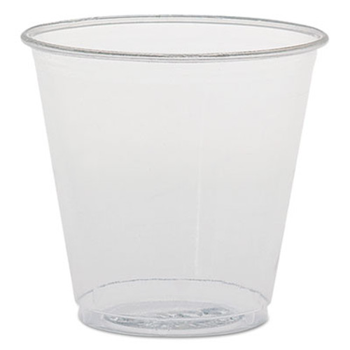 Dart Plastic Sampling Cups, 3.5 oz, Clear, Polystyrene, 100/Bag, 25 Bags/Carton (SCC TK35)