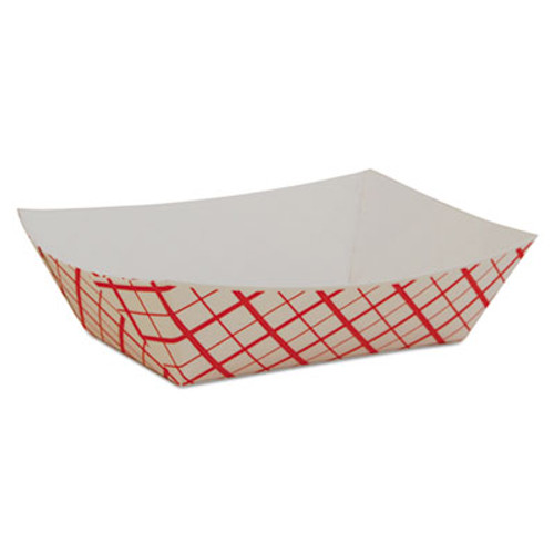 SCT Paper Food Baskets, Red/White Checkerboard, 1/2 lb Capacity, 1000/Carton (SCH 0409)