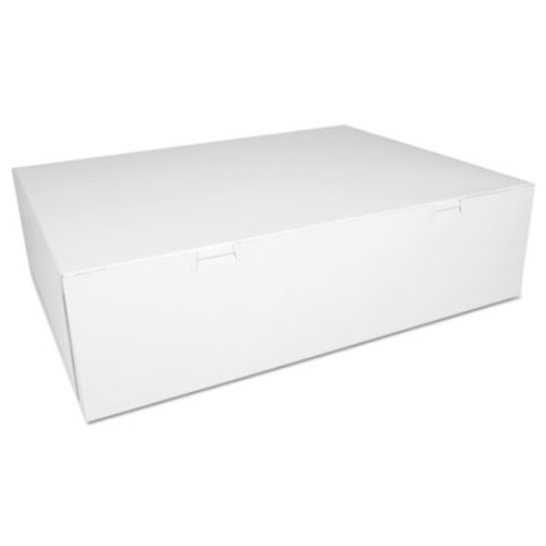 SCT Bakery Boxes, White, Paperboard, 18 1/2 x 14 1/2 x 5, 50/Carton (SCH 1013)