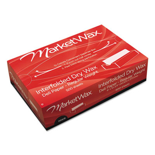 "Bagcraft Interfolded Dry Wax Deli Paper, 8"" x 10-3/4"", White, 500/Box, 12 Boxes/Carton (BGC 011008)"