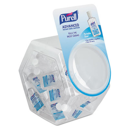 PURELL Advanced Instant Hand Sanitizer Gel, 1 oz Bottle, Lemon Scent, 36/Bowl,1 Bowl/CT (GOJ 3901-36-BWL)
