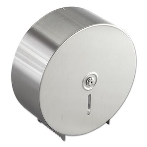 Bobrick Jumbo Toilet Tissue Dispenser, Stainless Steel, 10 21/32 x 4 1/2 x 10 5/8 (BOB 2890)