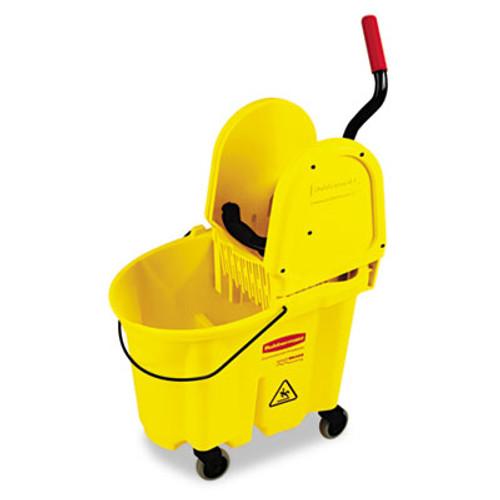 Rubbermaid Wavebrake 35 Quart Bucket/Wringer Combinations, Yellow (RCP 7577-88 YEL)