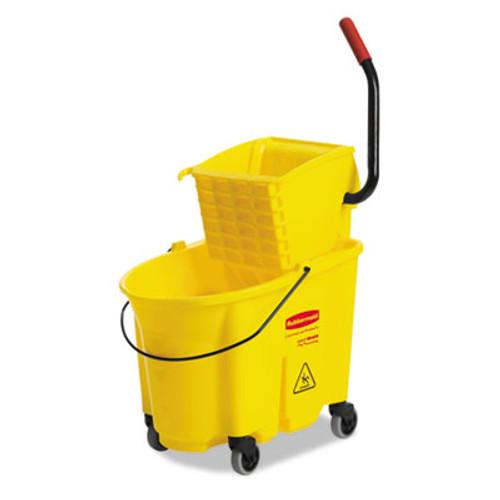 Rubbermaid Wavebrake 35 Quart Bucket/Wringer Combinations, Yellow (RCP 7580-88 YEL)