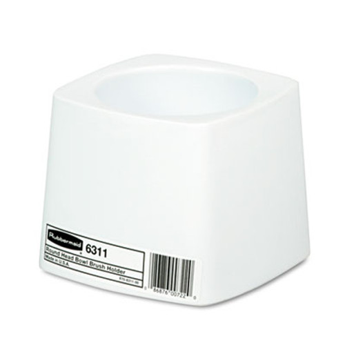 Rubbermaid Holder for Toilet Bowl Brush, White Plastic (RCP 6311 WHI)