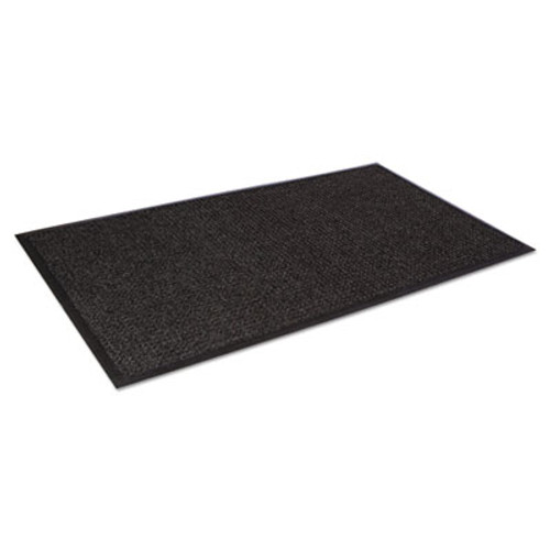 Crown Super-Soaker Wiper Mat w/Gripper Bottom, Polypropylene, 45 x 68, Charcoal (CRO SSR046 CHA)