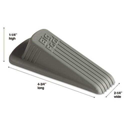 Master Caster Big Foot Doorstop, No Slip Rubber Wedge, 2 1/4w x 4 3/4d x 1 1/4h, Gray (MST 00941)