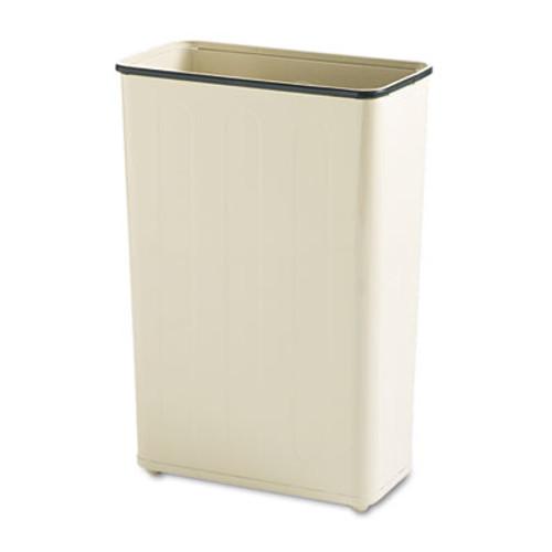 Rubbermaid Fire-Safe Wastebasket, Rectangular, Steel, 24gal, Almond (RCP WB96RAL)
