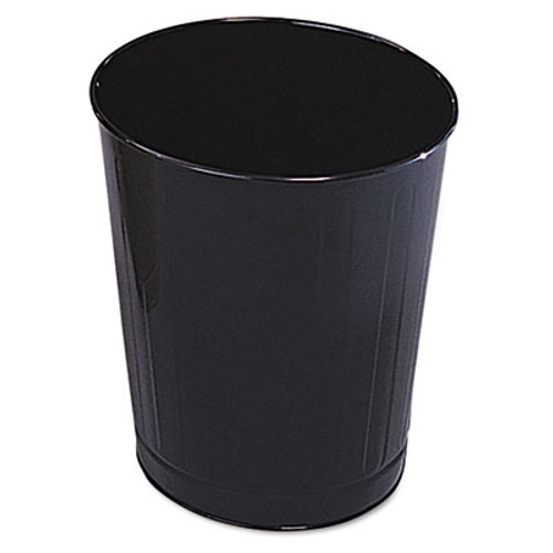 Rubbermaid Fire-Safe Wastebasket, Round, Steel, 6 1/2 gal, Black, 6/Carton (RCP WB26BLA)