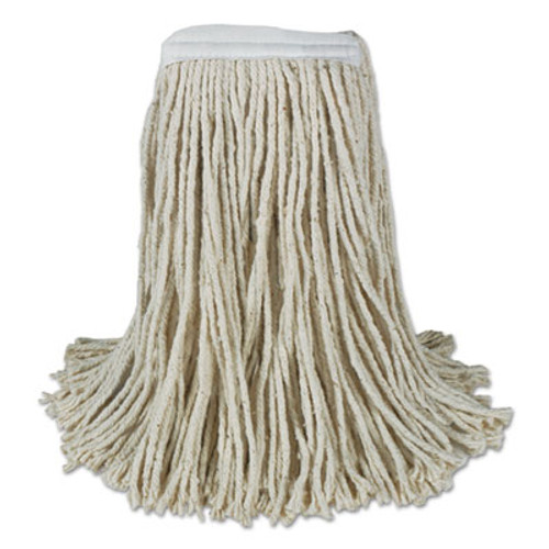 Boardwalk Banded Cotton Mop Heads, 24oz, White, 12/Carton (BWK CM20024)
