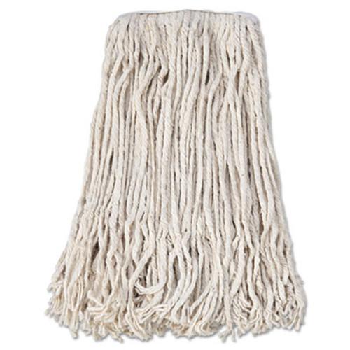 Boardwalk Banded Cotton Mop Head, #24, White, 12/Carton (BWK CM02024S)