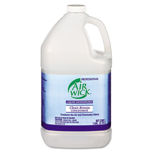 Professional Air Wick Liquid Deodorizer, Clean Breeze, Concentrate, 1gal, 4/Carton. (REC 06732)