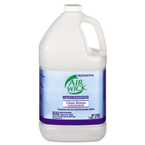 Professional Air Wick Liquid Deodorizer, Clean Breeze, Concentrate, 1gal, 4/Carton. (REC 06732)