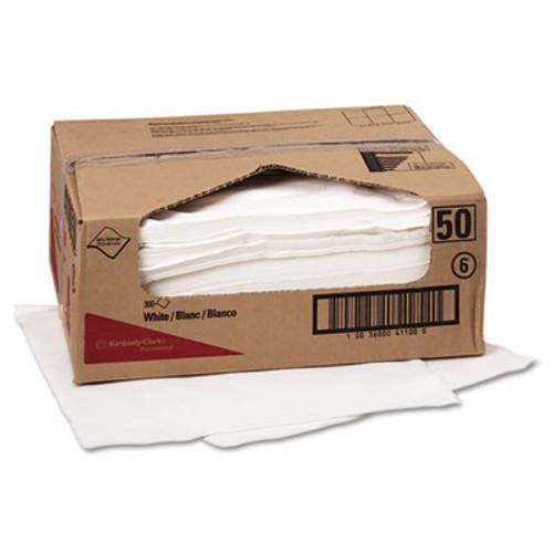 WypAll* X70 Cloths, Flat Sheet, 9 x 16 3/5, White, 300/Carton (KCC 41100)