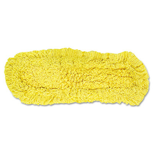 """Rubbermaid Trapper Commercial Dust Mop, Looped-end Launderable, 5"""" x 18"""", Yellow (RCP J152)"""