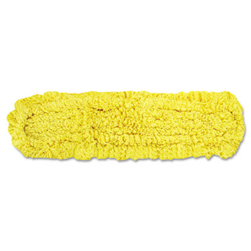 "Rubbermaid Trapper Commercial Dust Mop, Looped-end Launderable, 5"" x 18"", Yellow (RCP J152)"
