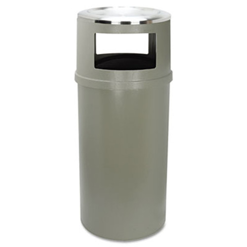 Rubbermaid Ash/Trash Classic Container w/o Doors, Round, 25gal, Beige (RCP 8182-88 BEI)