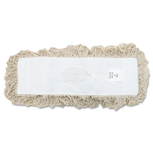 Boardwalk Industrial Dust Mop Head, Hygrade Cotton, 18w x 5d, White (UNS 1318)