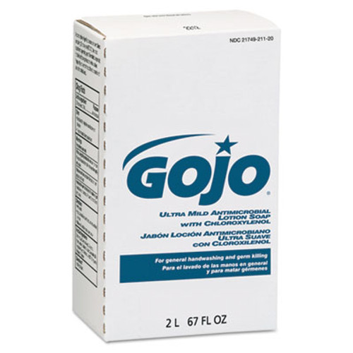GOJO Antimicrobial Lotion Soap w/Chloroxylenol, Floral, 2000mL Refill, 4/Carton (GOJ 2212)