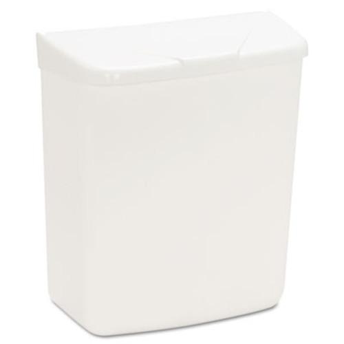 HOSPECO Wall Mount Sanitary Napkin Receptacle-ABS, Plastic, 1gal, White (HOS 250/201W)