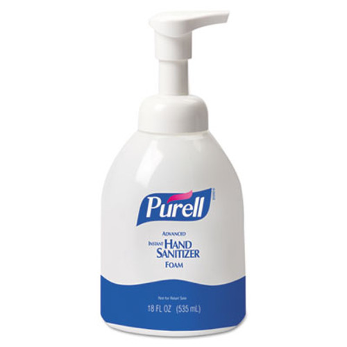 PURELL Advanced Non-Aerosol Foaming Hand Sanitizer, w/Moisturizers, 18oz Pump Bottle (GOJ 5792-04)