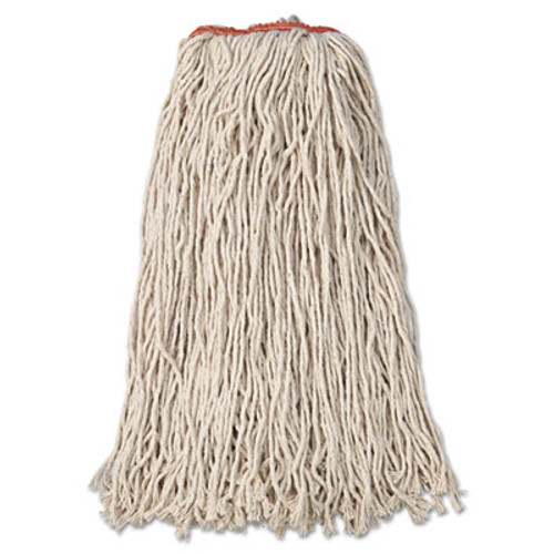 Rubbermaid Premium Eight-Ply Cut-End Cotton Wet Mop Head, 24oz, White, 12/Carton (RCP F218)