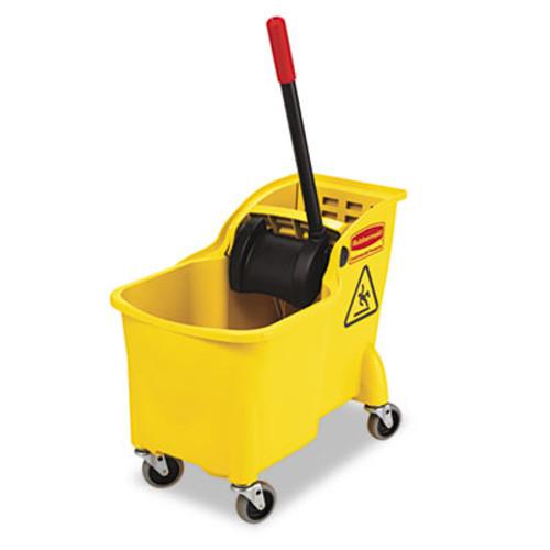 Rubbermaid Tandem 31qt Bucket/Wringer Combo, Yellow (RCP 7380 YEL)