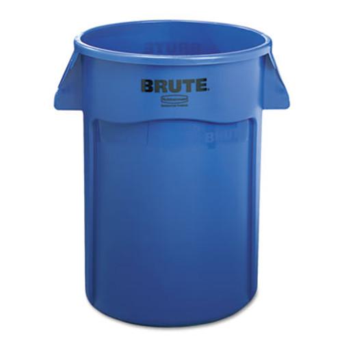 Rubbermaid Brute Vented Trash Receptacle, Round, 44 gal, Blue (RCP 2643-60 BLU)