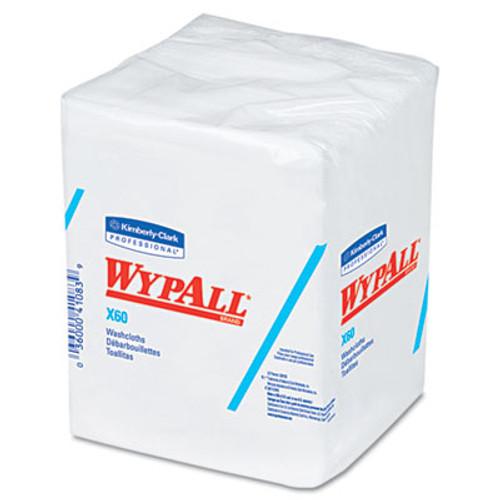 WypAll* X60 Cloths, 1/4 Fold, 12 1/2 x 10, White, 70/Pack, 8 Packs/Carton (KCC 41083)