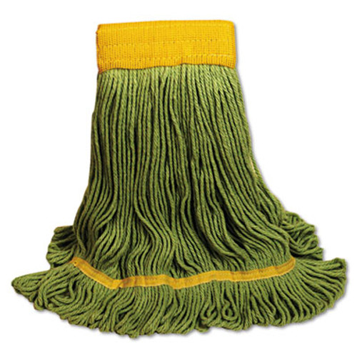Boardwalk EcoMop Looped-End Mop Head, Recycled Fibers, Extra Large Size, Green (UNS 1200XL)