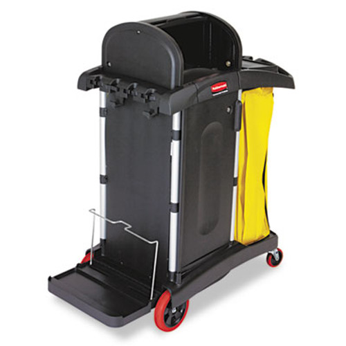 Rubbermaid High-Security Healthcare Cleaning Cart, 22w x 48-1/4d x 53-1/2h, Black (RCP 9T75)