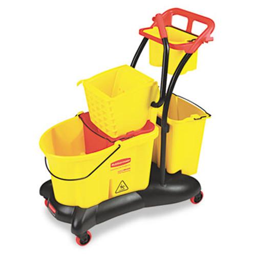 Rubbermaid WaveBrake 35 Quart Mopping Trolley Side Press, Yellow (RCP 7780 YEL)