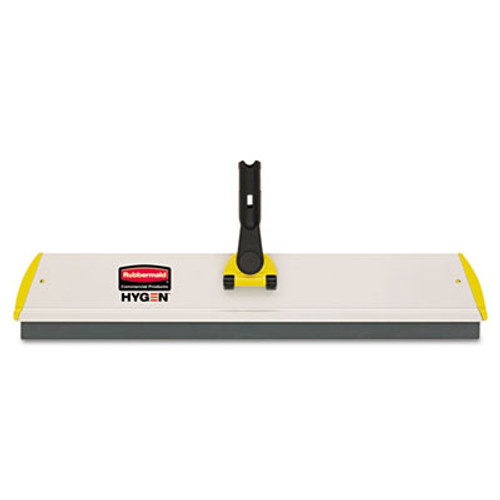 Rubbermaid HYGEN Quick Connect S-S Frame, Squeegee, 24w x 4 1/2d, Aluminum, Yellow (RCP Q570)